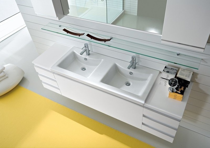Pi di 25 fantastiche idee su doppio lavandino del bagno - Lavandino doppio bagno ...