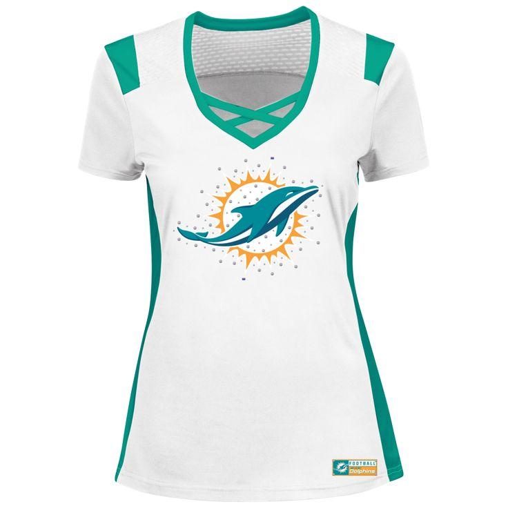 NFL Miami Dolphins Ladies Draft Me Shirt White