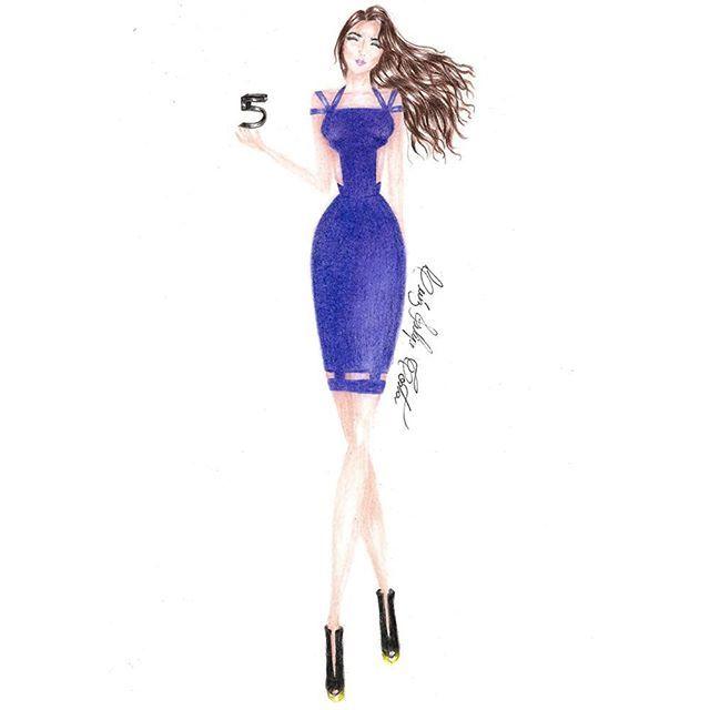Musa inspiradora @kehhbuchmann  #keferabuchmann #kefera #croqui #fashionillustration #fashion #houtecouture #5incominutos