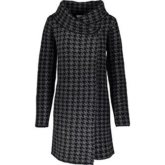 Charcoal Knitted Houndstooth Wrap