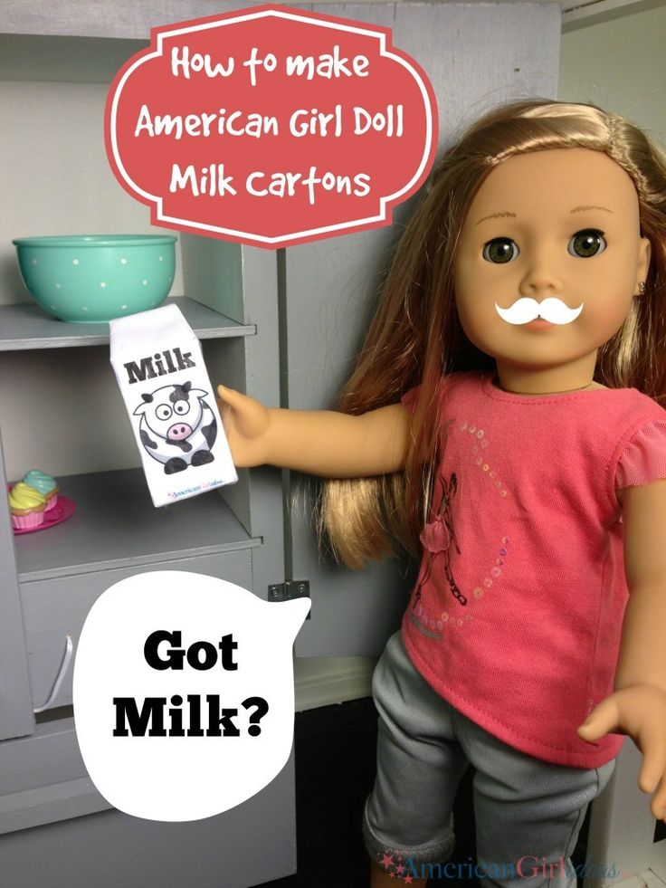 How to make American Girl Doll Food – Milk Cartons DIY