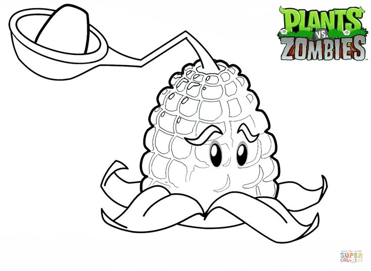 Plants vs. Zombies Kernel Pult coloring page   Free ...