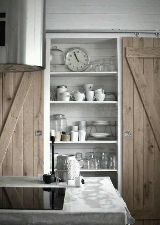 hanging sliding doors: Kitchens, Interior, Idea, Sliding Barn Doors, Pantries, Children, Barndoors, Sliding Doors