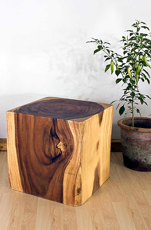 wooden cube end table