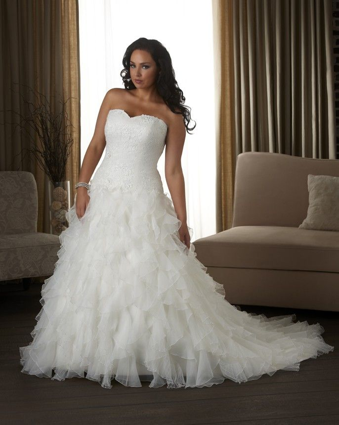 Plus size wedding dresses - tulle and organza wedding dress - wedding dresses - 1306 - Unforgettable - Collections | Bonny Bridal