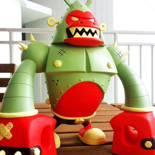 #badasstoy pobber toys x kronk (SDCC 2013)  forest edition vinyl toy DKE toys