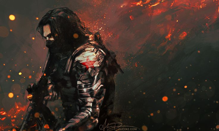 The Winter Soldier by the amazing Alicexz http://alicexz.tumblr.com/