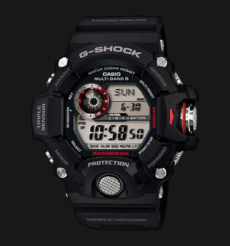 Beli jam tangan Casio G-Shock RANGEMAN GW-9400-1DR - Daftar Harga jam termurah, review, spesifikasi lengkap Indonesia di Jamtangan.com