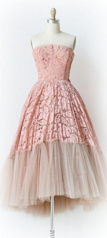 Vintage Prom Dress ~Debbie Orcutt ❤