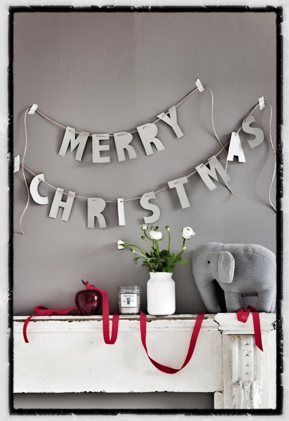 Via Jason Grant for Real Living. Photography by Maree Homer.: Christmas Cards, Xmas, Holidays Signs, Christmas Letters, Merry Christmas Banners, Red Christmas, Christmas Trees, Christmas Ideas, Christmas Elephants