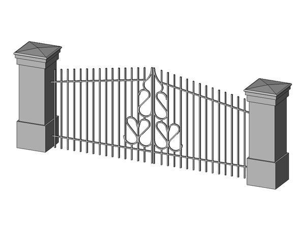 Fence Door Revit & Fence Gratify Chain Link Fence Gate Tractor