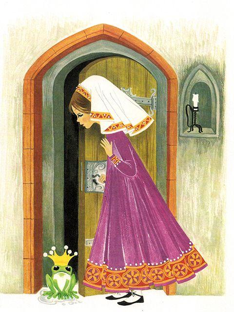 'The Frog Prince' Pestalozzi Publishing, 1969, Germany Illustration by Felicitas Kuhn