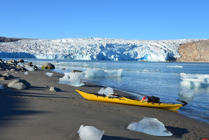 Kayaking in Greenland If you're passionate about kayaking, you should definitely put this on your to-do-list! Coming soon: www.beactivetours.com #greenland #kayaking #glacier #icebergs