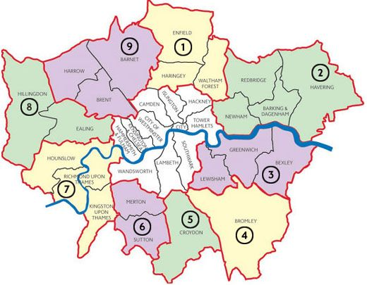 London City Area Map.Top 10 Punto Medio Noticias London City Map Zones