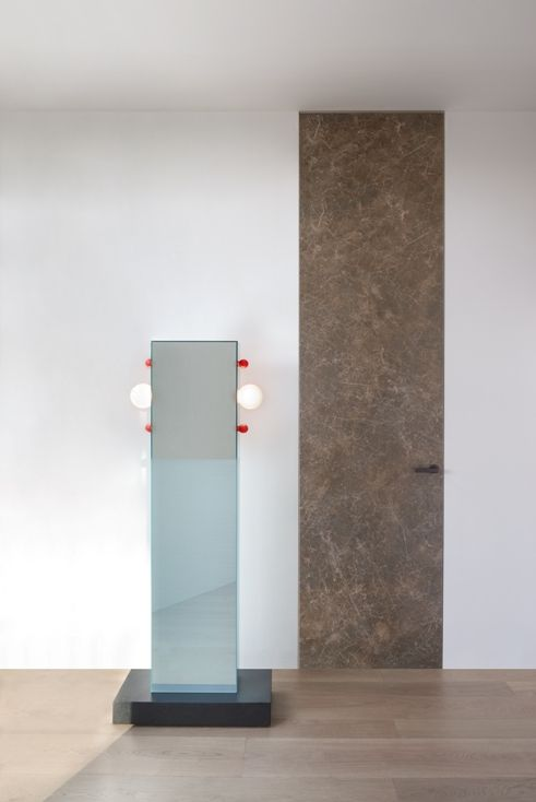 ALADIN DUO SWING PLAIN swing door with concealed frame, frame in ...