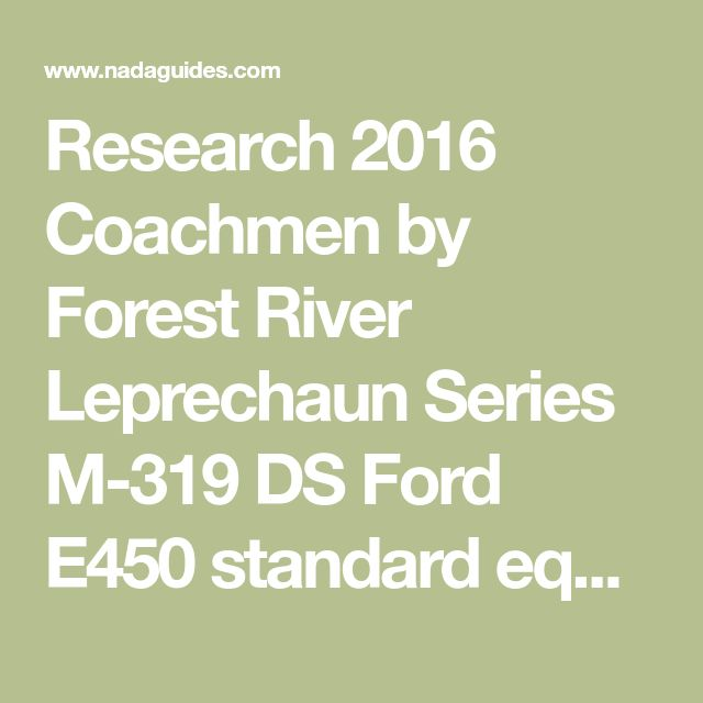 Research 2016 Coachmen by Forest River Leprechaun Series M