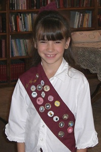 Keepers of the Faith - can't wait to get started!!  It's like a 4-H/Girl Scouts (they have Contenders of the Faith for boys) from a conservative Christian perspective.  Kids earn pins for their sash when they meet requirements for Bible study, crafts, books, etc.