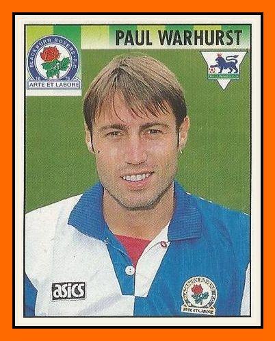 Old School Panini: UK Football Team - Blackburn Rovers 1995