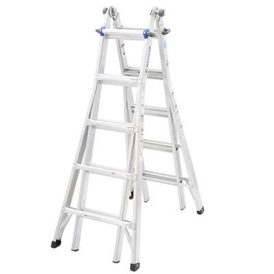 Werner 22 ft. Aluminum Telescoping Multi-Position Ladder with 250 lb. Load Capacity Type I Duty Rating