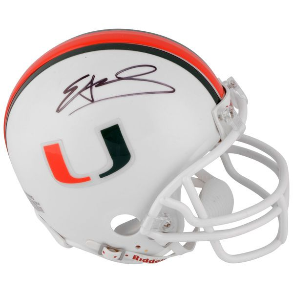 Edgerrin James Miami Hurricanes Fanatics Authentic Autographed Mini Helmet - $99.99