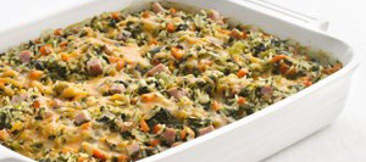 Ovenschotel van spinazie
