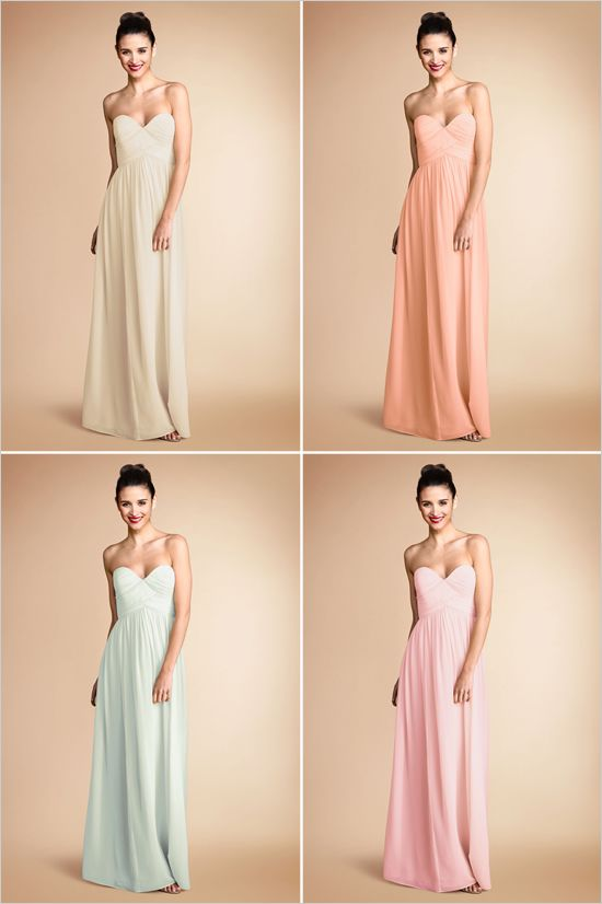 {Donna Morgan Bridesmaid Dresses} I like the top right (if it was short) @Leah Stevenson