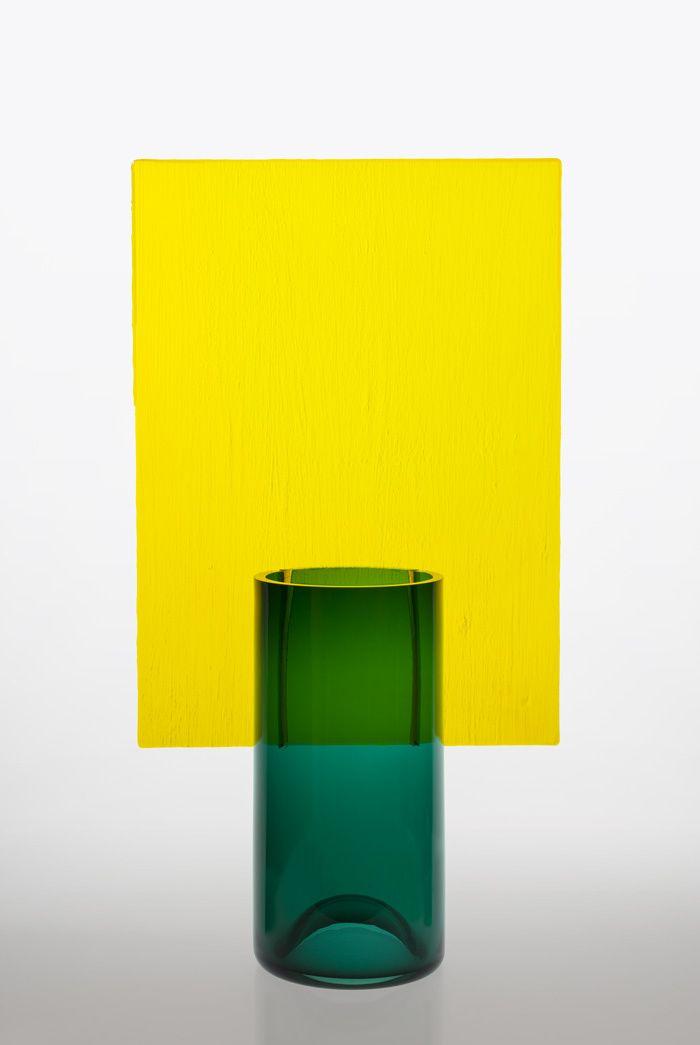 Deco jaune: la nouvelle tendance Vase Écran (Pierre Charpin)