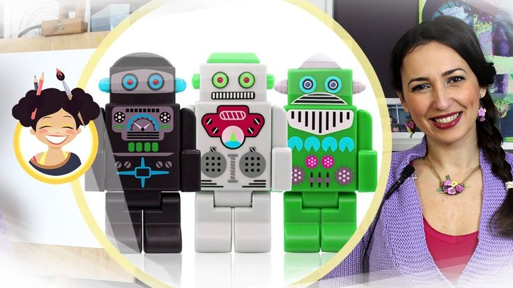 Desenam un robot cu Miss Maddy - lectii de desen