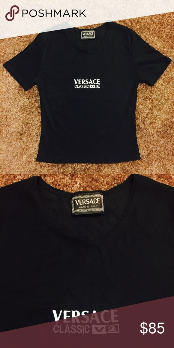 Versace shirt Great conditions. No burns, stains, cuts, discoloration. Versace Tops Tees - Short Sleeve