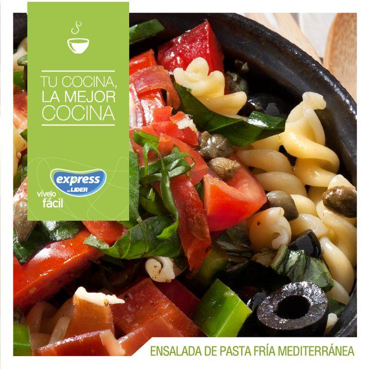 Ensalada de pasta fría mediterránea / #RecetarioExpress #Receta #ExpressdeLider #Food #Foodporn #Ensalada #Mediterráneo