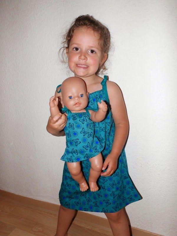 FiLenKas HerzWerke: Tutorial: Partnerlook für die Puppenmama (Gr. 110/116) und die große Baby Born