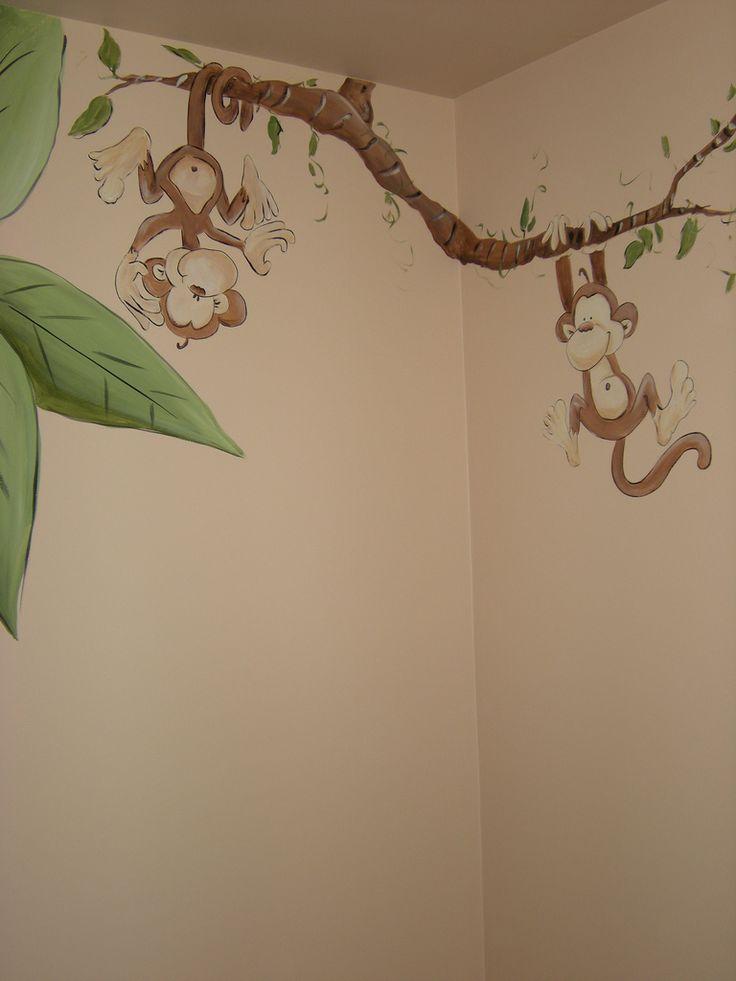 Whimsical Jungle Animal Nursery Mural | by Chicago Art