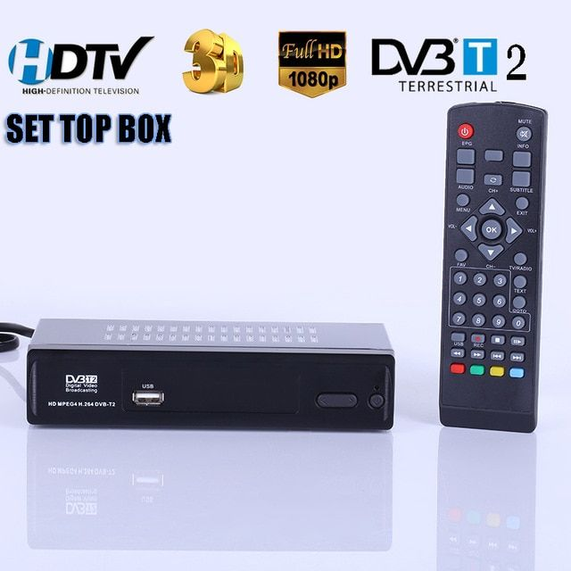Hd Digital Terrestrial Receive Dvb T2 Support Mp3 Mpeg4 Format Digital Tv Box Universal Tv Tuner Tv Receiver Dvbt2 Set Top Box Digital Tv Satellite Tv Tv Tuner