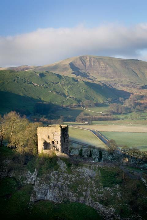 Peveril Castle and Mam Tor, Derbyshire. Fran Halsall Photography