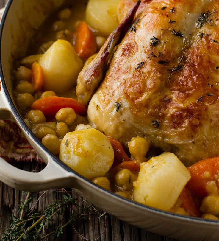 Chicken & Chick Pea Pot Roast