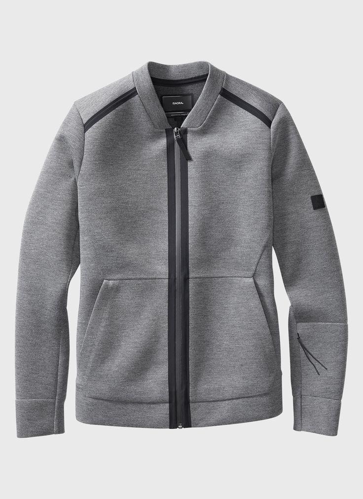 Neo Bomber Jacket (Grey) | ISAORA: