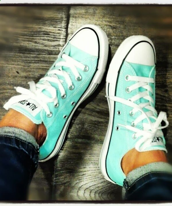 I would love to have these aqua colored converse. They would match perfectly with the aqua colored t-shirt I bought last week!