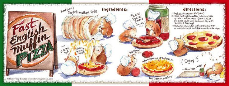 Fast English Muffin Pizza Illustrated Recipe