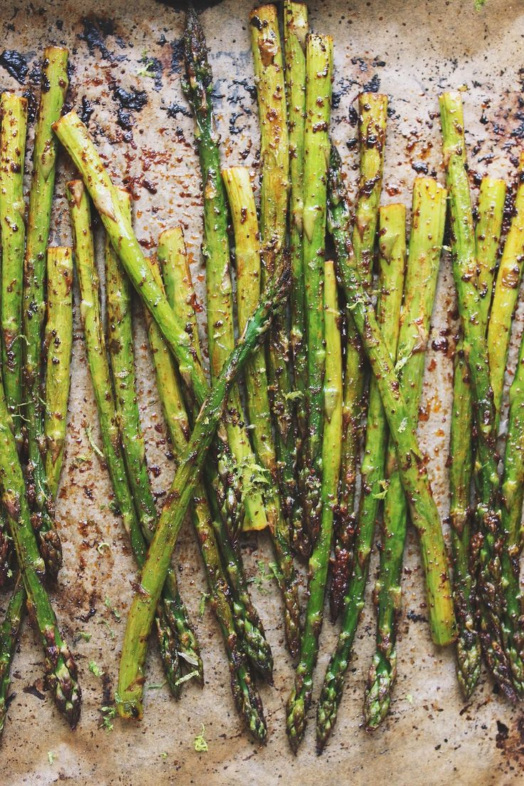Simple Roasted Chili Lime Asparagus