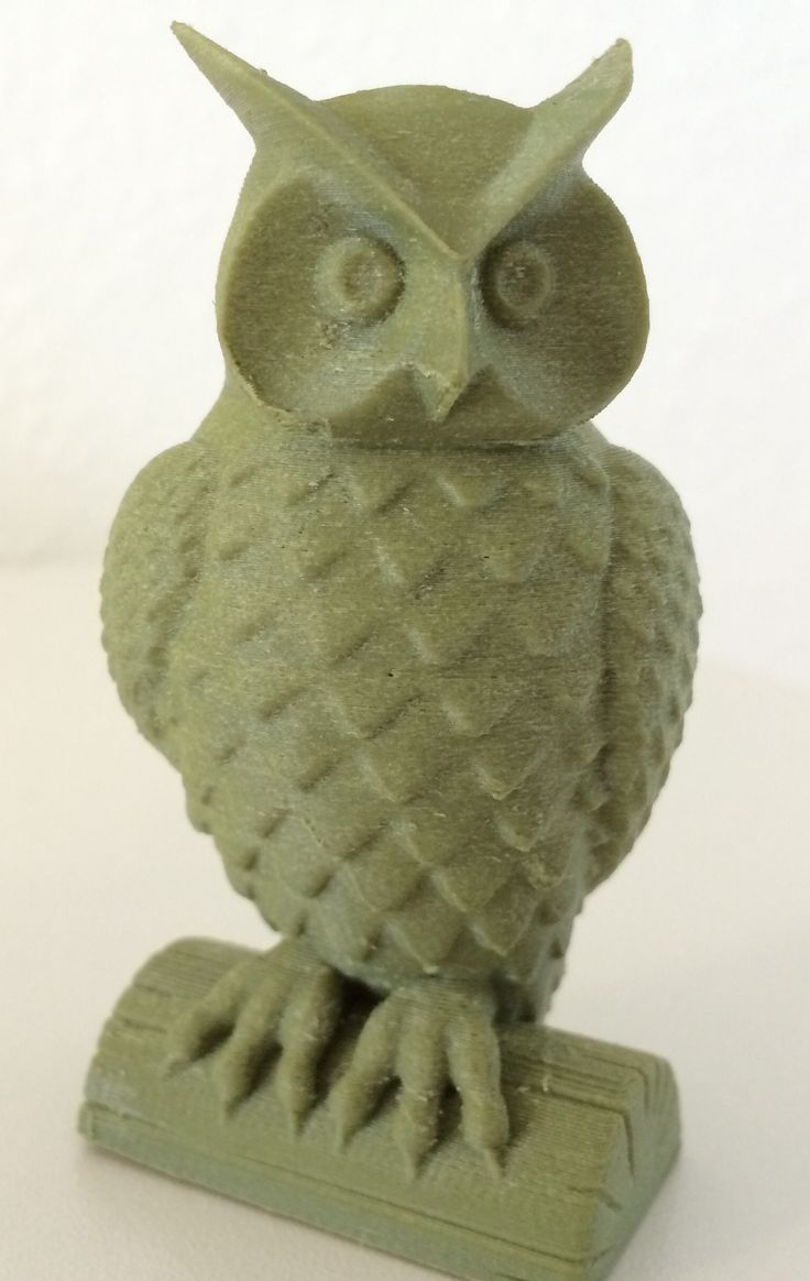 Filamentforsøg - 3D printet med træ-filament. :-)