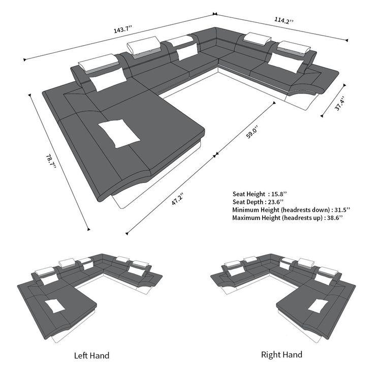 Fabric Design Sofa Atlanta XL with LED  – RUMAHTANGGA