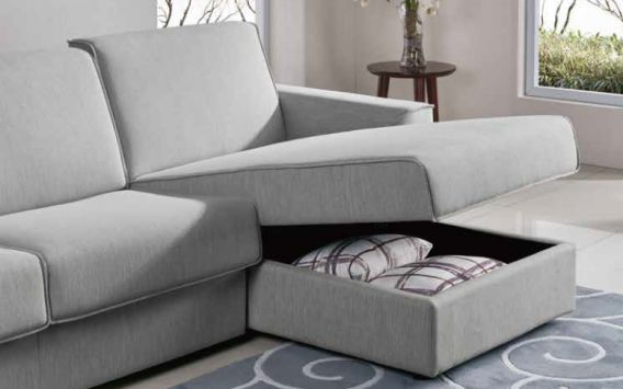 Kyle 3 Seater & Chaise Sofa Bed