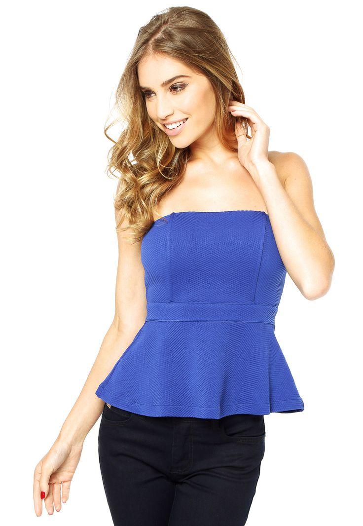 Blusa Colcci Slim Textura Azul - Compre Agora | Dafiti Brasil