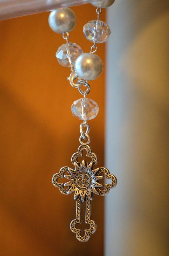 Hermosos decenarios de cristales y cruz de San por VANANADETALLES