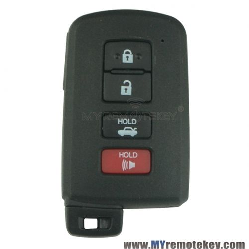 Smart key case shell 4 button for Toyota Camry Hybrid Avalon Corolla Highlander RAV4 2012 - 2016 HYQ14FBA
