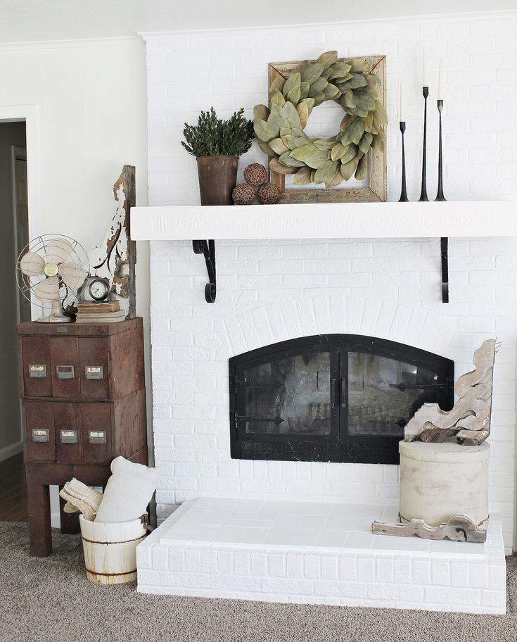 Farmhouse Mantel Decor Find Out More At The Image Link