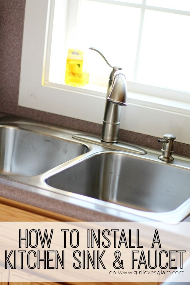 how to install a kitchen sink and faucet kitchen sink