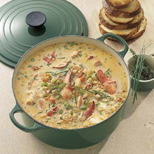 Lobster and Corn Chowder (or any cheaper seafood, lol)