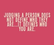 We are not here to judge anyone. There is only one judge and it sure is not me. I can help you get to a place of comfort in your life. Contact me for Life Coaching: www.DrHallonCall.com.