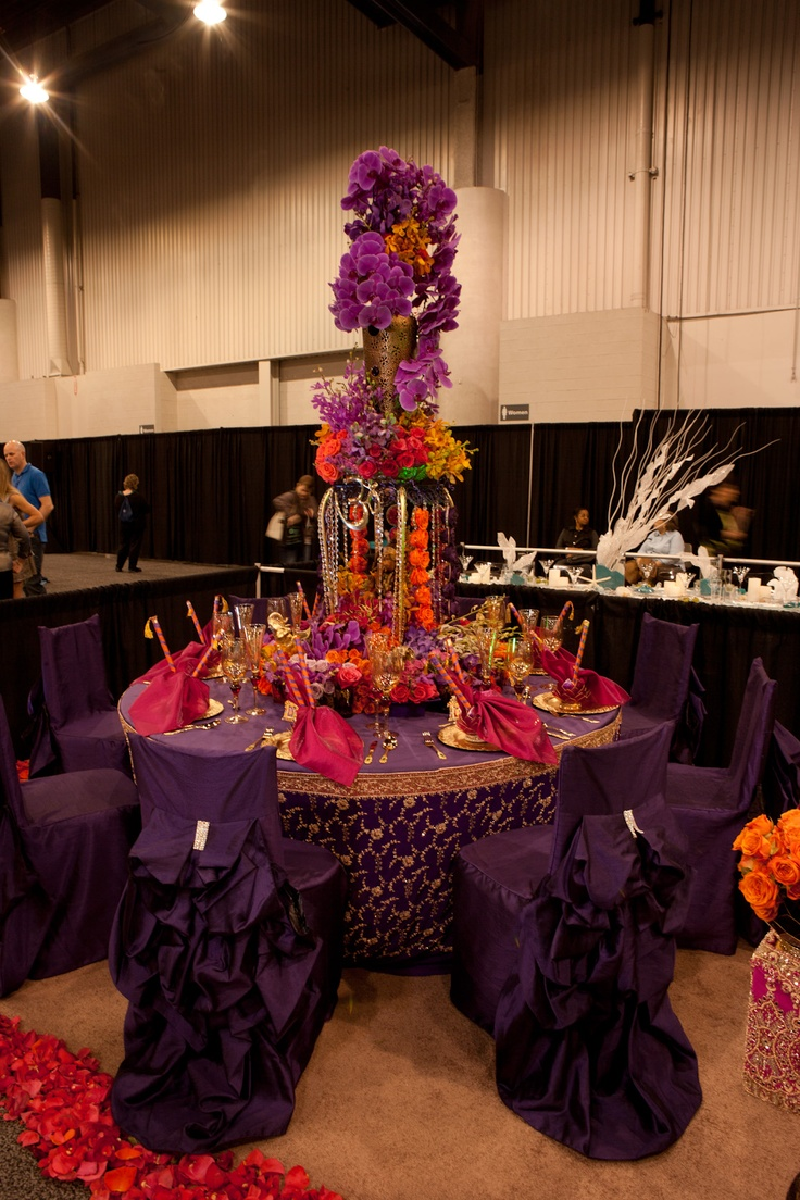 Hindu Wedding Tabletop entry by Bisli    2012 Idea Factor...Love the Chair covers